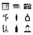 skin problem icons set simple style vector image vector image