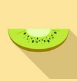 slice of kiwi icon flat style vector image