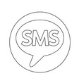 sms icon design vector image