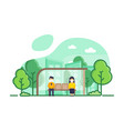 social distancing in public transportation free vector image vector image