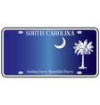 south carolina flag license plate vector image vector image