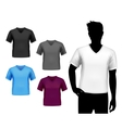 T-shirts male set vector image vector image