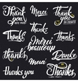 Thank you merci beaucoup danke- typographic vector image