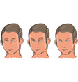 Three Facial Expressions vector image