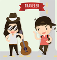 traveler vector image