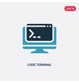 two color code terminal icon from programming vector image