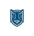 Vintage retro baseball emblem badge sport club