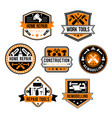 Work tools for home repair icons set
