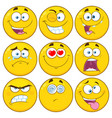 yellow cartoon emoji face collection - 1 vector image vector image