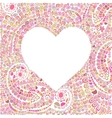 Heart made of doodling lines vector image