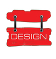 design signboard in red vector image