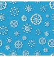 Seamless pattern with paper snowflakes vector image