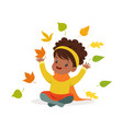 sweet african american little girl in warm vector image