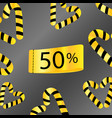 50 percent off sale discount limited time gold vector image