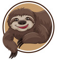 a sloth sticker template vector image