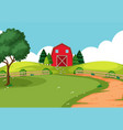 an outdoor farm landscape vector image vector image