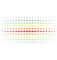 bacteria spectrum halftone grid vector image vector image