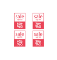 banners sale set vector image vector image