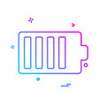 battery icon design vector image