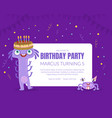 birthday party invitation on vector image vector image