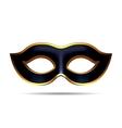 Black carnival mask vector image vector image