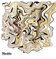 Black white and golden marble style abstract vector image