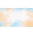 blue sea and sand beige watercolor splash on vector image vector image