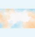blue sea and sand beige watercolor splash vector image vector image