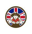 british organic grown produce union jack flag icon vector image vector image