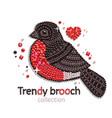 bullfinch brooch icon vector image vector image