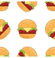 burger flat pattern vector image