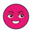 chat emoticon cartoon vector image