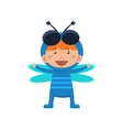 Child Wearing Costume of Fly vector image vector image