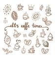 coffee icons set shop vector image