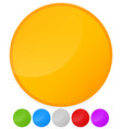 colorful circles with slight glossy effect vector image vector image