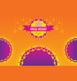 creative diwali festival offer poster design vector image vector image