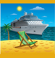 cruise tropical resort vector image vector image