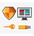 Cyber and System Security icon vector image