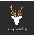 deer postcard vector image vector image