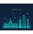 Denver skyline trendy linear vector image vector image