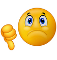 Dislike sign emoticon vector image vector image