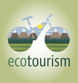 ecobike-mountain-icon vector image vector image