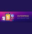 enterprise accounting concept banner header