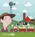 Farmers at work agriculture fresh farm vector image vector image