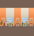fast food cafe concept flat vector image