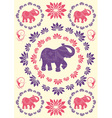 Festive typical indian elephant background vector image vector image