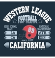 Football Athletic T-shirt design vector image vector image