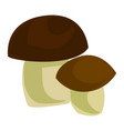 forest mushroom icon cartoon style vector image