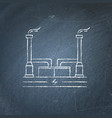 geothermal power plant chalkboard sketch vector image