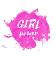 girl power hand drawn lettering badge vector image